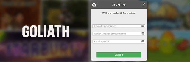 Goliath Casino Registrierung