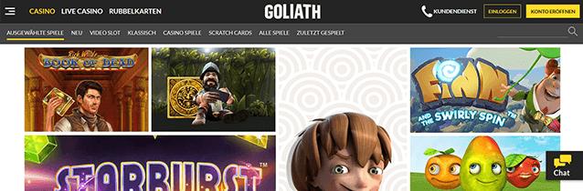 Goliath Casino Spiele Angebot
