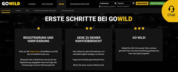 GoWild Casino Kundenservice