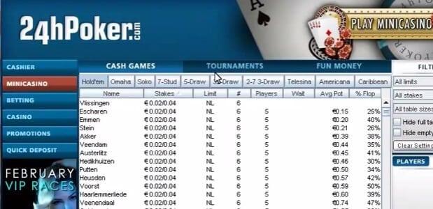 Ein Poker Client ohne Schnickschnack