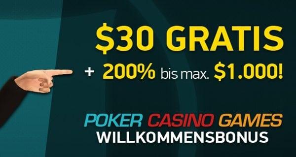 Satter 200% Bonus bis $1.000 bei PKR Poker