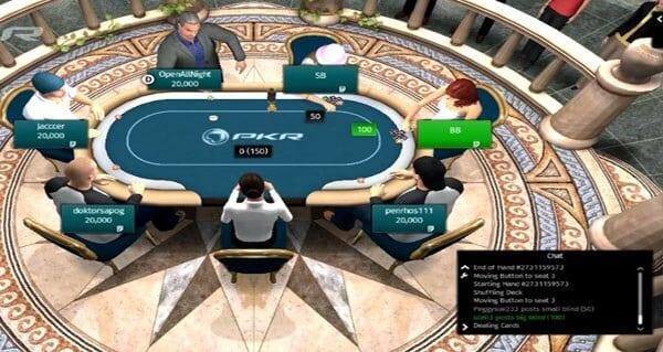 PKR Poker besticht durch 3D-Grafiken und Animationen