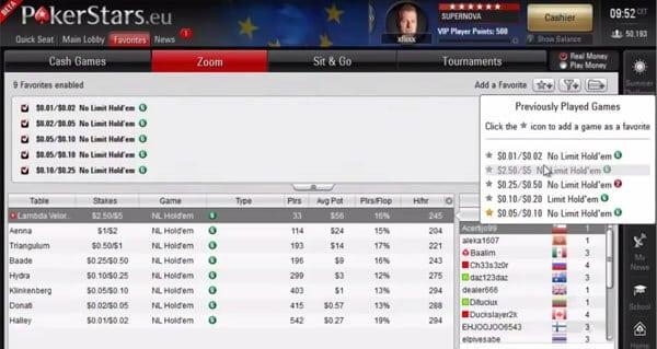 PokerStars bietet eine große Spielvielfalt an