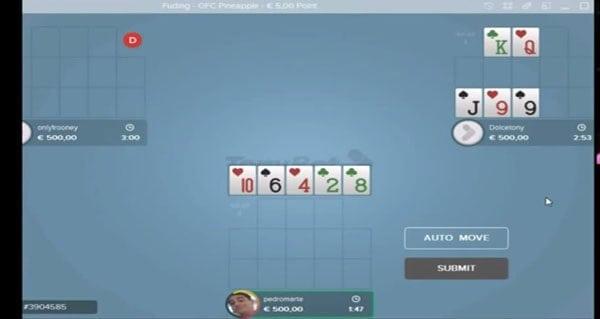 Open Face Chinese Poker bei Tonybet spielen