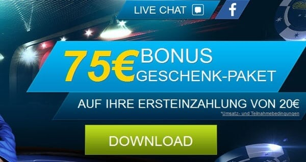 Attraktives Willkommens-Paket bei William Hill Poker