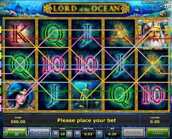 Novoline-Slot Lord of the Ocean Gewinnreihen bei Rivo Casino