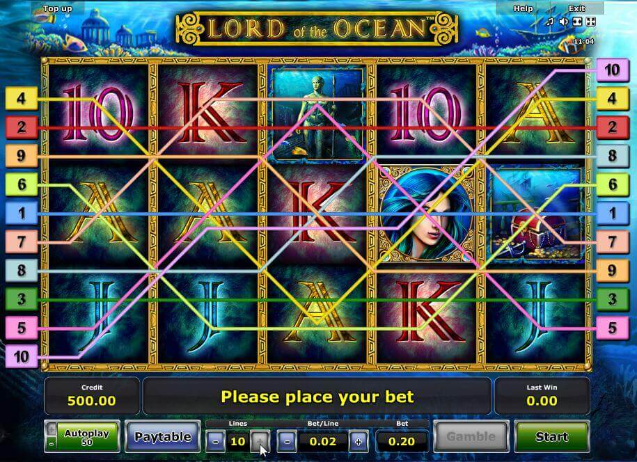 Novoline-Slot Lord of the Ocean Gewinnreihen bei Rivo Casino