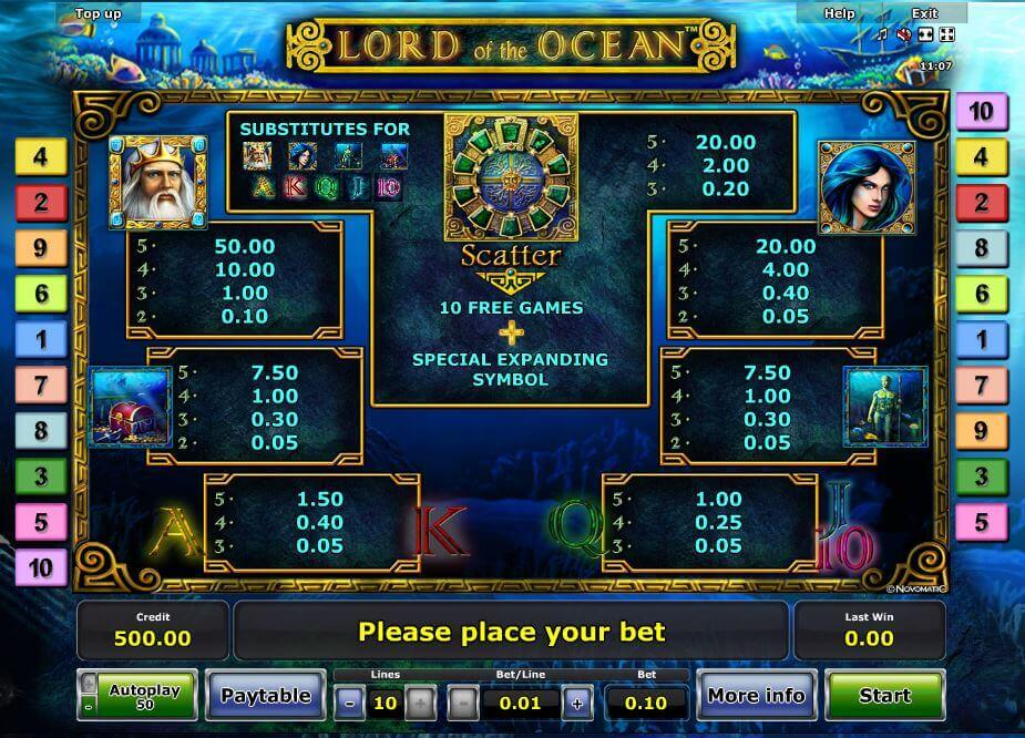 online slot casino lord of ocean tricks