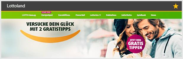 Lottoland Webseite
