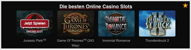 Maple Casino Spiele