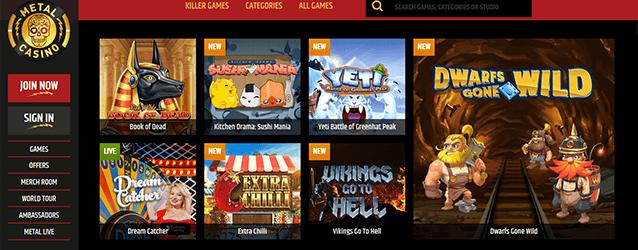 Metal Casino Spiele