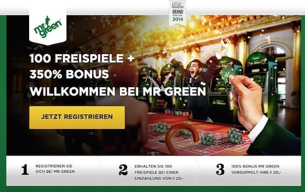 bonuscode mr green casino