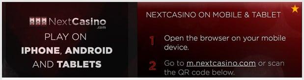 NextCasino Mobile App
