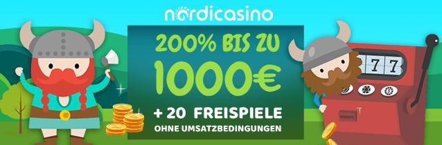 Nordicasino Bonus