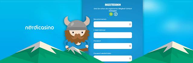 Nordicasino Registrierung