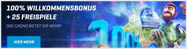 NordicBet Casino Bonus: Bis zu 50 Euro Bonus + 25 Freispiele für Neukunden
