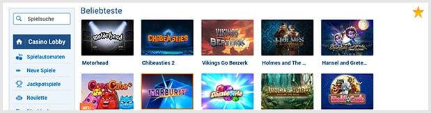 NordicBet Casino Spieleangebot
