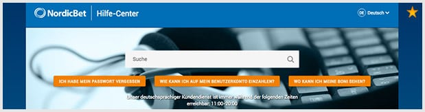 NordicBet Casino Kundenservice