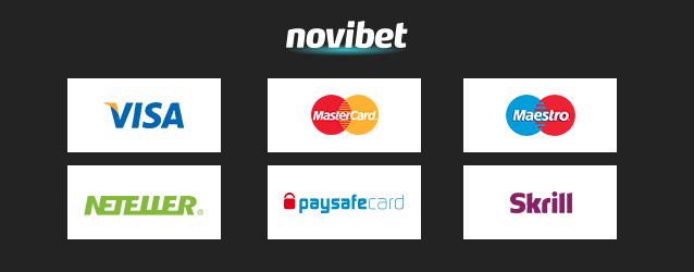 Novibet Zahlungsmethoden
