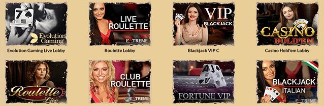 OrientXpress Casino Live Spiele