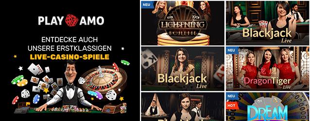 PlayAmo Casino Live Casino