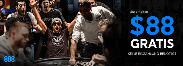 Poker Bonus bei 888 Poker