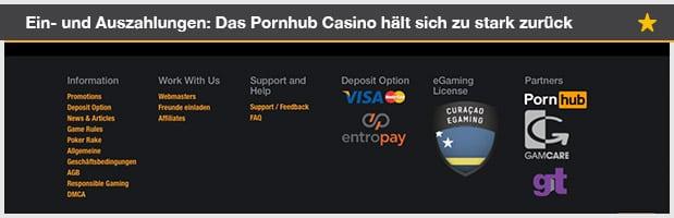 Pornhub Casino Zahlungsmethoden