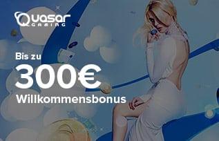 Quasar Gaming 300 Euro Bonus
