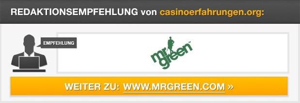 Redaktionsempfehlung Mr Green Casino