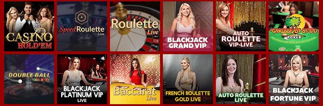 RedSpins Casino Live Spiele