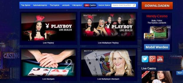 Das All Slots Casino verfügt über ein umfangreiches Live Casino