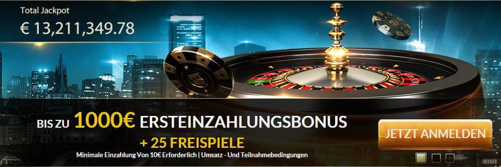 der aktuelle Bonus von Eurogrand, dem Sieger unseres Bonusvergleichs