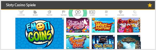 Sloty Casino Spiele Angebote