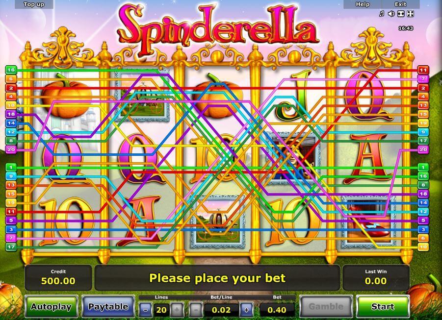 Novoline-Slot Spinderella Gewinnreihen bei Rivo Casino