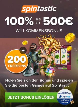 Spintastic Bonus sidebar
