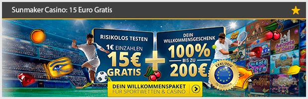 Sunmaker Casino Bonus ohne EInzahlung