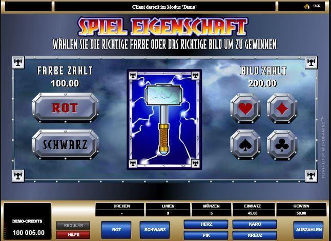 Dualer Bonuslevel beim Online Thunderstruck-Slot