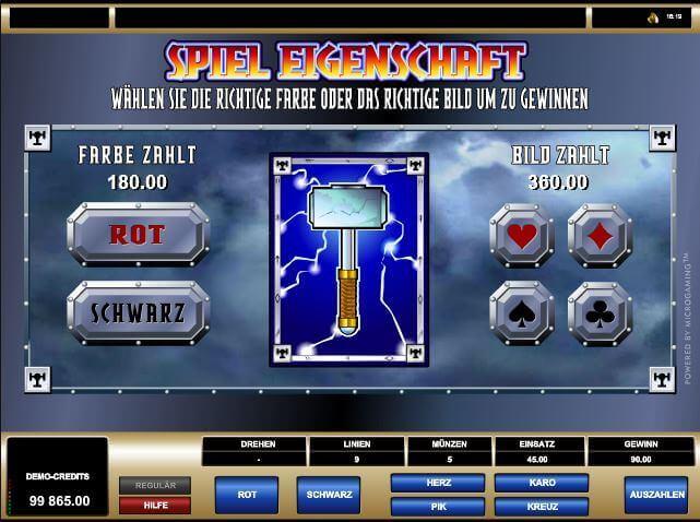 Dualer Bonus-Level von Thunderstruck auf mrgamez.net