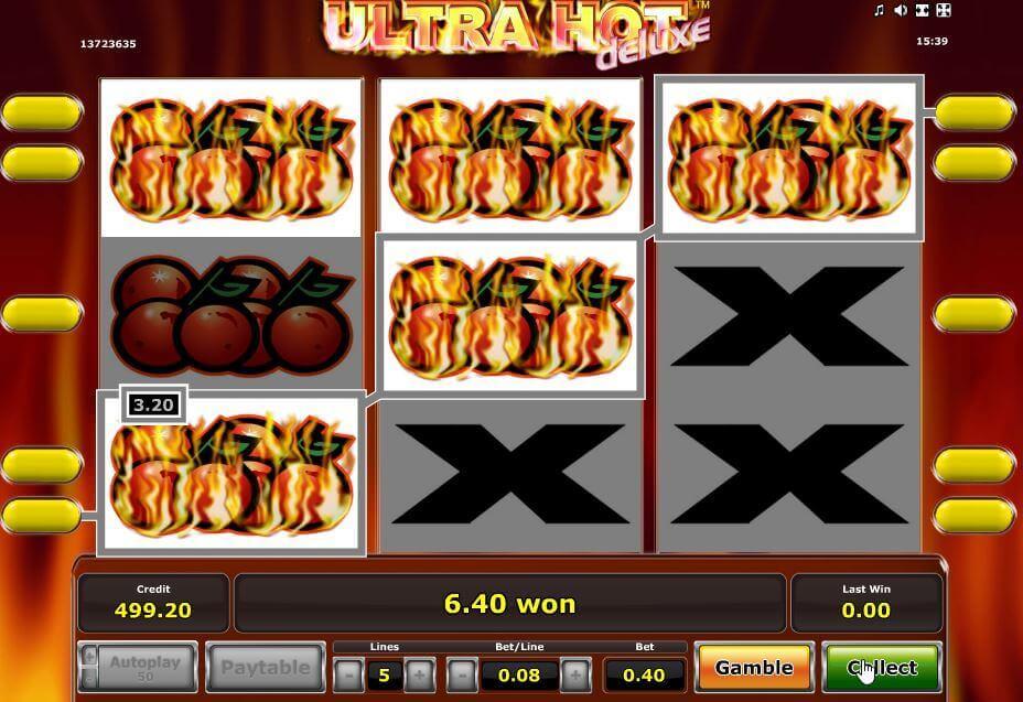 Novoline-Slot Ultra Hot Deluxe Gewinnreihen bei Rivo Casino