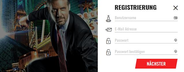 Vegas Hero Registrierung