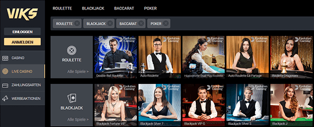 VIKS Casino Livespiele
