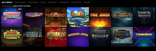 Voodoodreams Casino Spiele Angebot