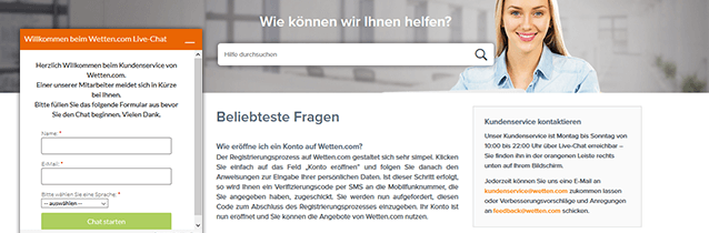 Wetten.com Casino Support