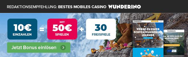 Redaktionsempfehlung mobiles Casino