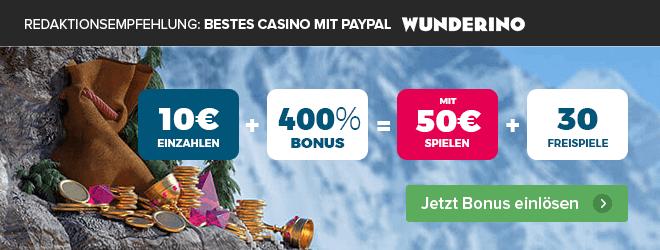 Casino mit PayPal Empfehlung